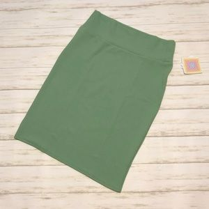 NWT Lularoe XL green Cassie pencil skirt